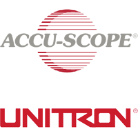 Accuscope logo and Unitron logo